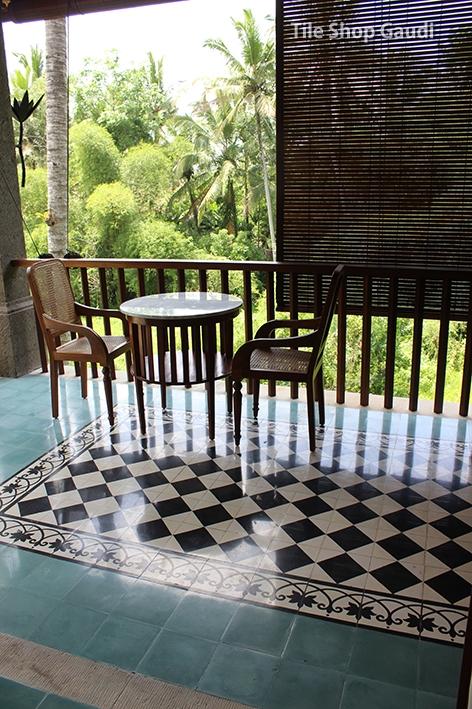cement_tile施工例- Villa Hotel KORURUA バリ島