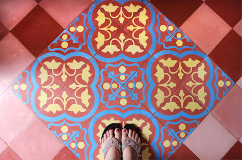 cement tile- Pink